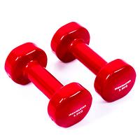 Гантели для фитнеса IRONMASTER 2 по 3,5 кг. (красный)