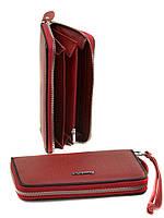 Женский кошелек Alessandro Paoli. Клатч, портмоне из натуральной кожи. Цвет красный