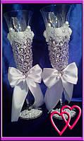 Свадебные бокалы Roses 6547 Белый