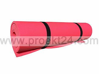 Килимок для фітнесу одноколірний 1800×600×8мм