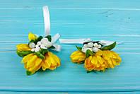 Бутоньерки для гостей на свадьбе