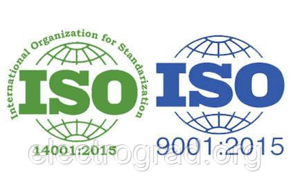 Мы подтвердили и сохранили сертификаты  на систему управления  качества ISO 9001:2015  и на систему экологического  управления ISO 14001:2015