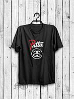 Футболка   Stussy Patta лого два
