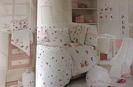 Комплект дитячої постільної білизни для новонароджених у ліжечко First Choice Hapy baby Peri