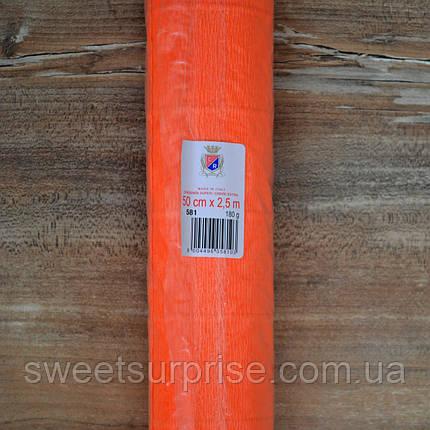 Итальянская гофрированная бумага (581) оранжевый, фото 2