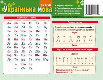 Зірка Картонка підказка 20*15 Англійська мова 001-02 кл, фото 2