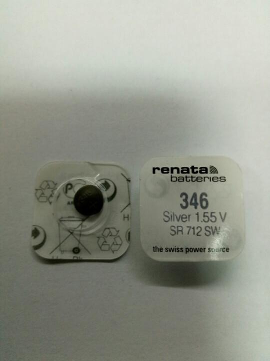 Батарейка годинникова Renata SR712 (346)