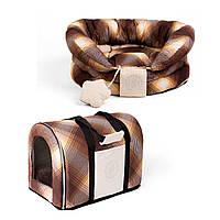 Сумка переноска и лежак для собак и котов Zoom Zoom Zoo Bizet коричневый