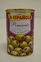 Оливки зеленые фаршированные перцем La Espanola 300 г