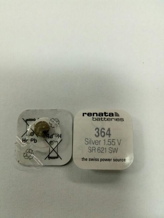 Батарейка часовая Renata SR621 (AG1, 364)