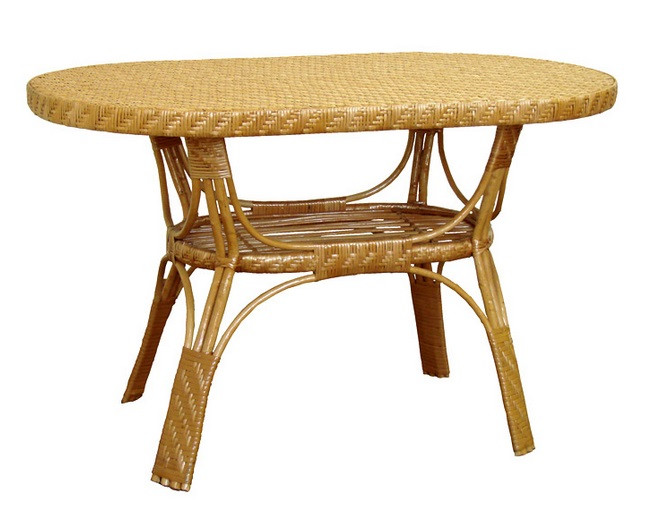 CЖ-8 овальный стол из лозы ЧФЛИ 720х1200х750 мм