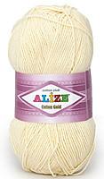 Турецкая пряжа для вязания Alize Cotton Gold. Цвет 01