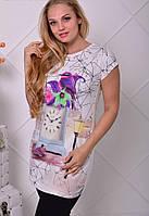 Платье с принтом в больших размерах w-t6151312