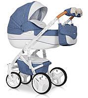 Детская коляска универсальная 2 в 1 Riko Brano Luxe 04 denim (Рико Брано, Польша)