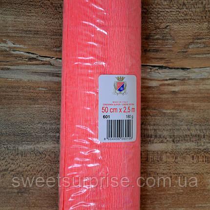 Итальянская гофрированная бумага (601) коралловый, фото 2