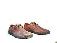 Мужские туфли летние YDG Bellini 7132 с натуральной кожи