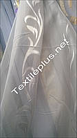 Тюль шифон-батист вензель с листиком, фото 1