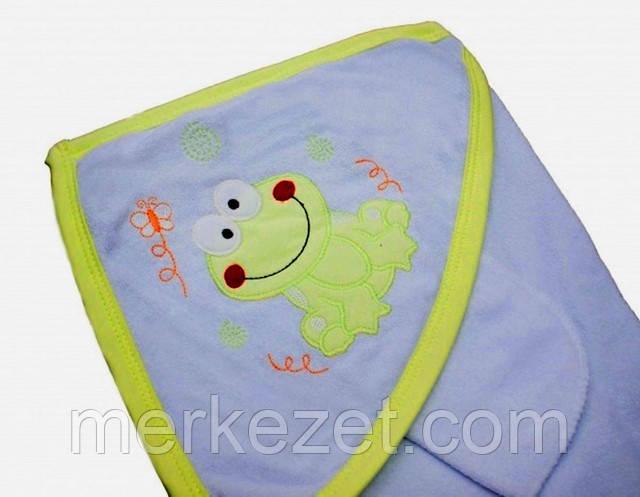 Лягушонок, полотенце, полотенца, пончо, уголок, уголок для купания, полотенце с капюшоном