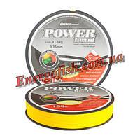 Шнур ET Power Braid Teflon 150 м 0.40 мм 35.5 кг желтый