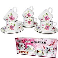 533-22 Набор чайный 12пр Полевые цветы