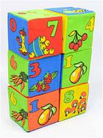 """Набор кубиков """"Цифры и матем. знаки"""" """"мягкая"""" 6шт (42) """"РОЗУМНА ИГРАШКА"""""""