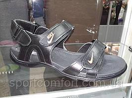 Сандали Nike черная кожа