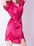 Красивый шёлковый комплект красного цвета