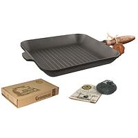 Сковорода для гриля чугунная литая квадратная 28*28*4 см SNT Т307