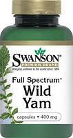 Улучшение гормонального баланса женщины - Дикий Ямс / Wild Yam, 400 мг 60 капсул