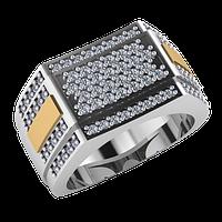 Серебряное мужское кольцо арт 557
