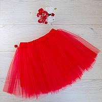 Модная юбка-пачка  ярко-красная