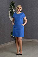 Летнее женское платье Лен р.48-52 V277-02