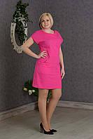 Летнее женское платье Лен р.48-52 V277-03
