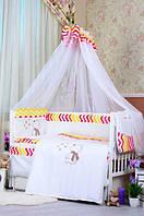 """Постельный набор в детскую кроватку """"Bepino Звездочет """" цветные зигзаги, фото 1"""