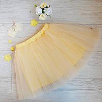 Модная юбка-пачка ванильно-желтая