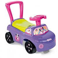 Машинка-каталка Minnie Mouse  Smoby - Франция - имеет широкую спинку с сиденьем, удобный руль