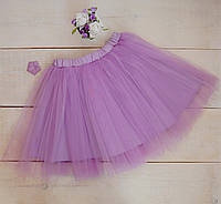 Модная юбка-пачка лавандовая