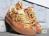 Женские кроссовки PUMA Rihanna Suede Creepers кожа