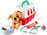 Игровой набор Ветеринарная клиника с переноской для щенка, Ecoiffier