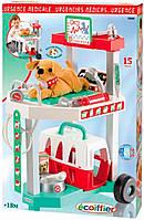 Игровой набор Ветеринарная клиника с тележкой и переноской для щенка, Ecoiffier