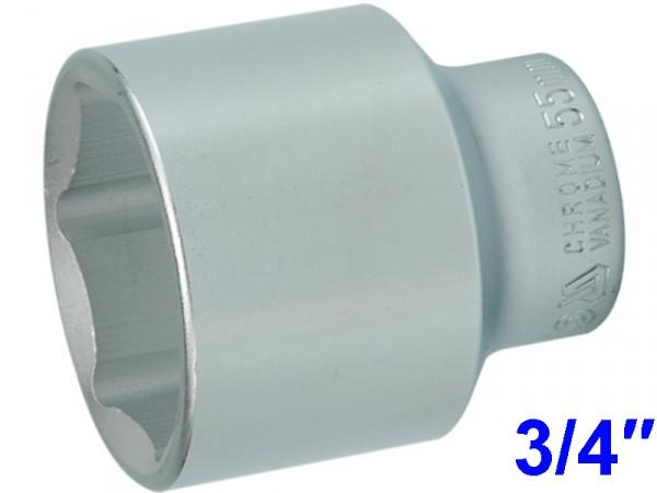 """YATO Головка торцева 6-гранна , з квадр. 3/4"""", М=55 мм, L=75 мм"""