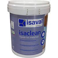 Изаклин - особо стойкая краска к пятнам и загрязнениям, без запаха ISAVAL 1л до 12м2