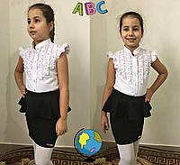 Блузка на девочку школьная 631  mari