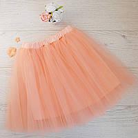 Модная юбка-пачка персиковая