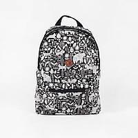 Городской рюкзак Fort Mishka Black Red and Dog 21л. (мужской рюкзак, женский рюкзак)