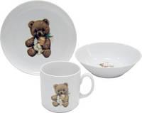Набор детской посуды фарфоровой Cmielow Teddy Bear 6503T06E2B123