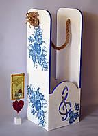 Винний короб декупаж 39*14*14 см Винный короб из дерева