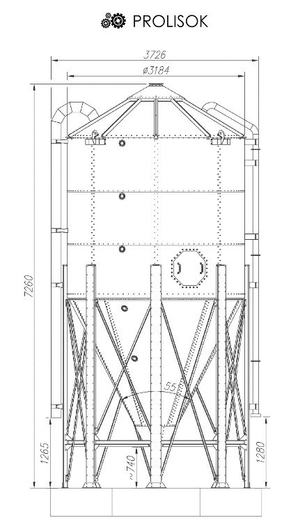 Кормовые силосы 24,5 т, 32,6 м3