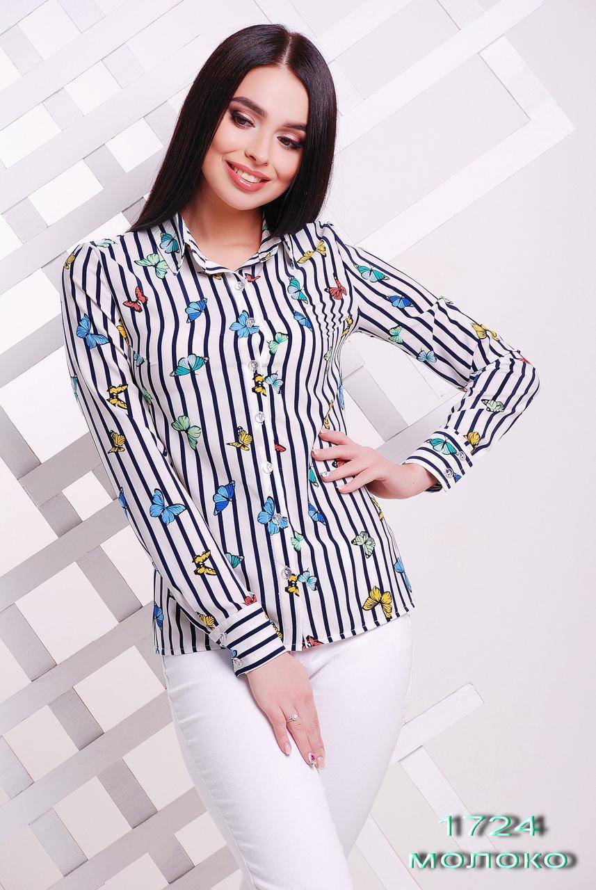 94d6486b784 Летняя женская рубашка Бабочка. - Интернет-магазин вышиванок