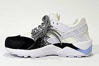 Кроссовки Huarache Black Nike Air женские подростковые белые черные